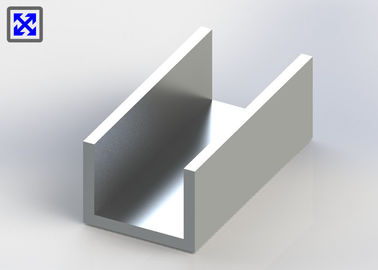 C Channel Aluminum Extrusion Profiles Customized Sizes Powder Coated Surface